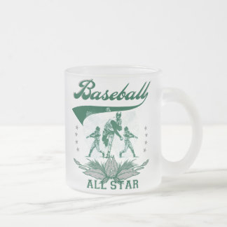 Green Baseball All Star T-shirts and Gifts 10 Oz Frosted Glass Coffee Mug