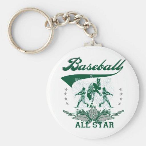 Green Baseball All Star Tshirts and Gifts Keychain
