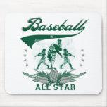 Green Baseball All Star Tshirts and Gifts Mouse Pad