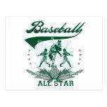 Green Baseball All Star Tshirts and Gifts Postcard