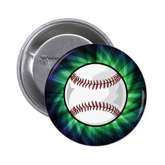Green Baseball Buttons
