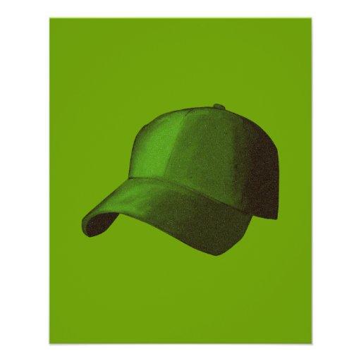 "GREEN BASEBALL CAP GRAPHICS 4.5"" X 5.6"" FLYER"