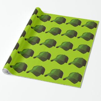 GREEN BASEBALL CAP GRAPHICS WRAPPING PAPER