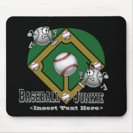 Green Baseball Cartoon Mouse Pad