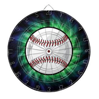 Green Baseball Dart Board