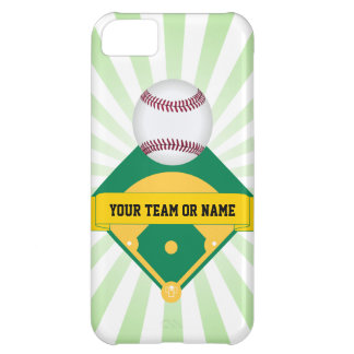 Green Baseball Field with Custom Team Name Cover For iPhone 5C