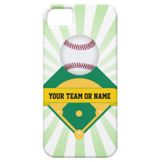 Green Baseball Field with Custom Team Name iPhone SE/5/5s Case