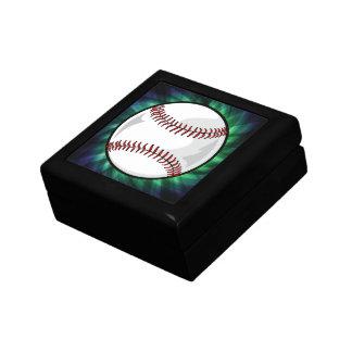 Green Baseball Jewelry Box