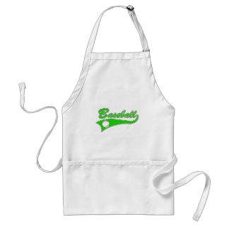 Green Baseball Logo Adult Apron