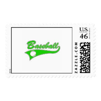 Green Baseball Logo Postage Stamp