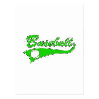 Green Baseball Logo Postcard