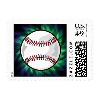 Green Baseball Stamp