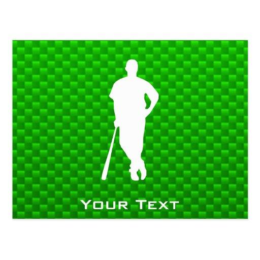 Green Baseball Postcard