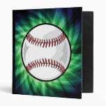 Green Baseball Vinyl Binders
