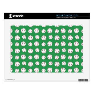 Green baseballs netbook decal