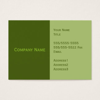 Green Basic Business Cards
