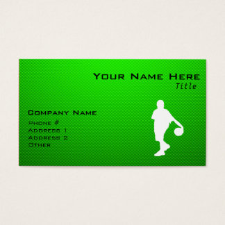 Green Basketball Business Card