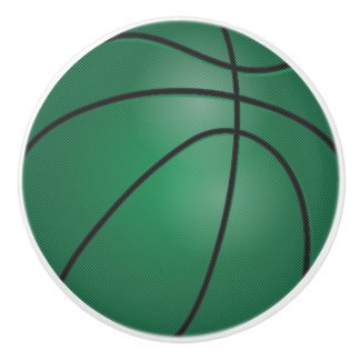 Green Basketball Ceramic Knob