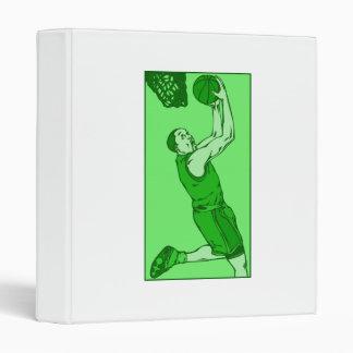 Green basketball dunk binder
