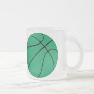 Green Basketball Frosted Glass Mug