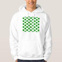 Green Basketball Pattern Hoodie