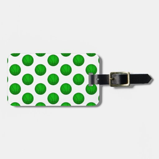 Green Basketball Pattern Tags For Bags