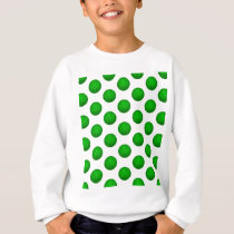 Green Basketball Pattern Sweatshirt