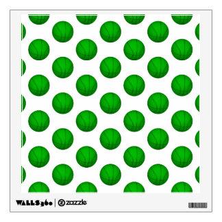Green Basketball Pattern Wall Sticker