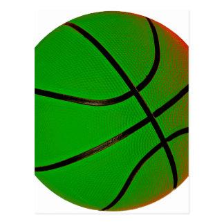 Green Basketball Postcard