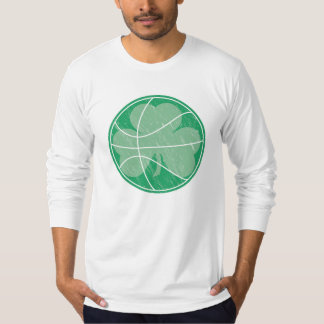 Green Basketball Shamrock T-Shirt