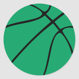 Green Basketball Sports Ball Player/Team Stickers