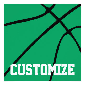 Green Basketball Team Name or Other Custom Text Card