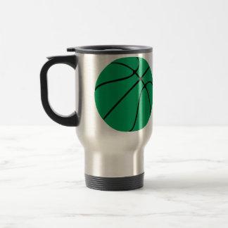 Green Basketball Travel Mug