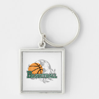 Green Basketball Tshirts and Gifts Keychain