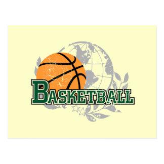 Green Basketball Tshirts and Gifts Postcard