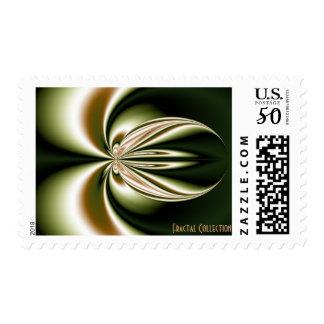 Green Bass Fractal Postage Stamp