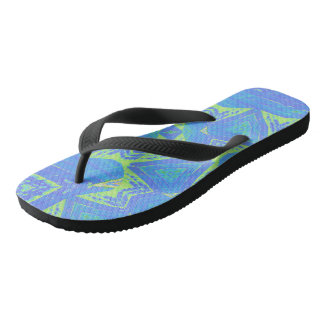 Green Batik Flip Flops: choose size/style Flip Flops