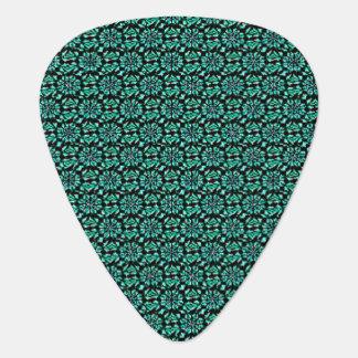 Green Batik Mini-Repeat Guitar Pick