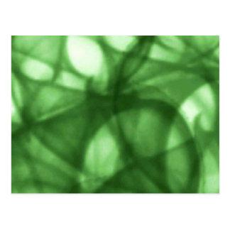 green_batik_pattern postcard