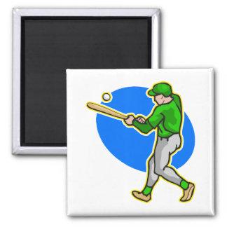 green batter 2 inch square magnet