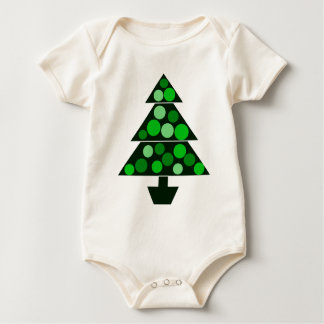 Green Baubles Christmas Tree - Infant Baby Bodysuit