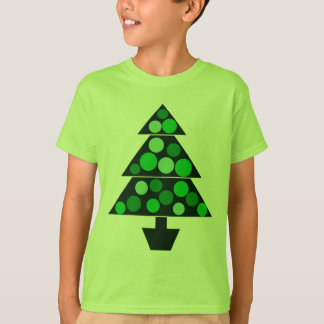 Green Baubles Christmas Tree - Kids T-shirt