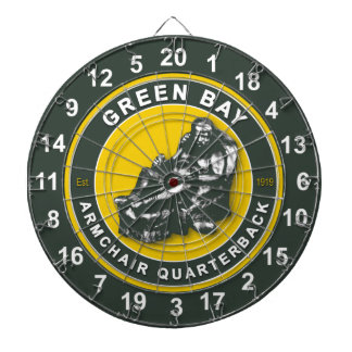 Green Bay Armchair Quarterback Football Dartboard