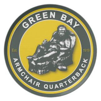 Green Bay Armchair Quarterback Plate