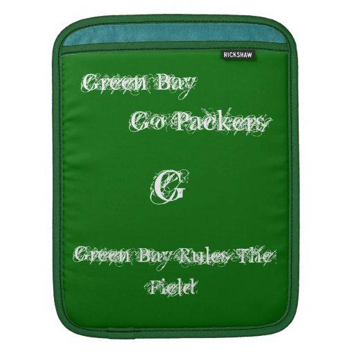Green Bay de la manga del iPad Fundas Para iPads