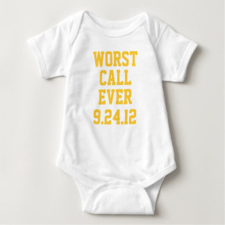 Green Bay Football: Worst Call Ever 9/24/12 Infant Baby Bodysuit