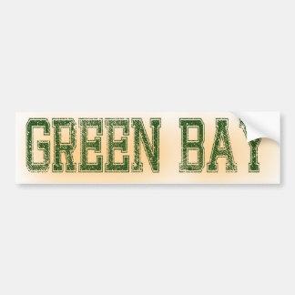 Green Bay Green and Gold Grunge Bumper Sticker