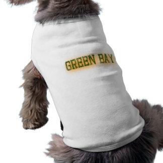 Green Bay Green and Gold Grunge Dog Shirt