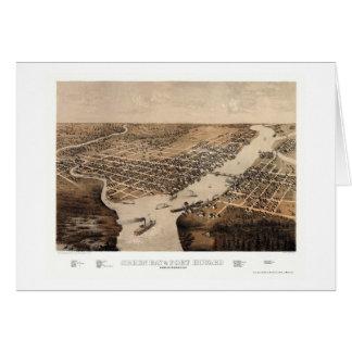 Green Bay, mapa panorámico de los WI - 1867 Tarjeta De Felicitación