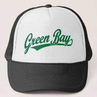Green Bay script logo in green Trucker Hat